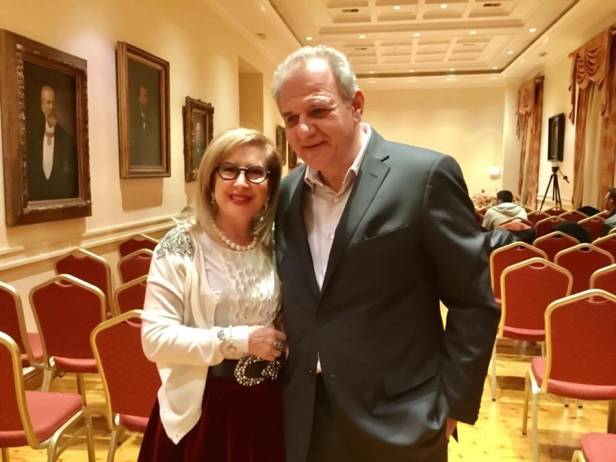 Με τον εκδότη Ηλία Λιβάνη